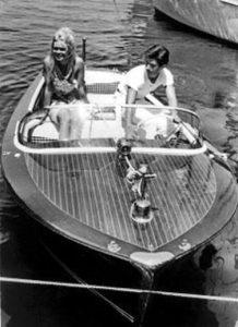 Brigitte Bardot and Gigi Rizzi aboard a Riva in Saint-Tropez