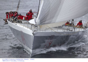 """03_3756D � Th.Martinez,CHERBOURG, FRANCE ,  13/08/03  """"MARI-CHA IV"""" First sailing , in Cherbourg."""