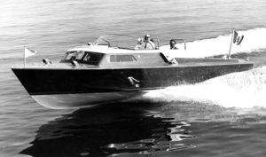 Anno 1958 - Mostoscafo costruito dai Cantieri Baglietto per Gianni Agnelli denominato Leopolda di mt. 9,50 in prova