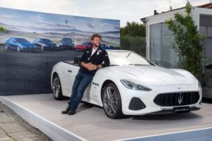 Giovanni Soldini  e la Maserati GranCabrio Sport al VYR