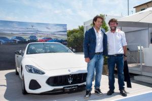 Giorgio Rocca e Giovanni Soldini con la Maserati GranCabrio Sport @VYR