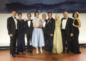 Giovanna Vitelli, Vice President Azimut Benetti, receives the award_credits Boat International Media